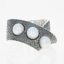 Sterling Silver Cultured Pearl Ring Size 9