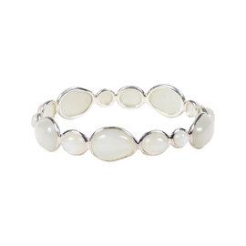"Ippolita 925 Sterling Silver & Mother of Pearl ""Scultura Hero"" Oval Bangle Bracelet"