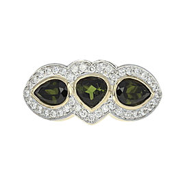 Le Vian 14K White & Yellow Gold with 1.55ct Tourmaline & 0.48ct Diamond Ring Size 7