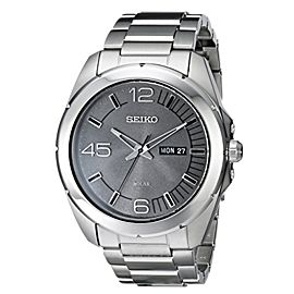 Seiko SNE273 Stainless Steel Gray Dial Quartz 45mm Mens Watch