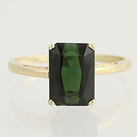 14K Yellow Gold Tourmaline Ring Size 11
