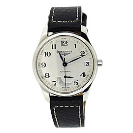 Longines Master Collection L2.666.4.78.3 Stainless Steel & Leather Automatic 42mm Mens Watch