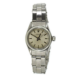 Rolex Oyster Perpetual 6618 Stainless Steel Automatic Vintage 24mm Womens Watch