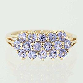 14K Yellow Gold Tanzanite Ring Size 10