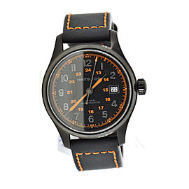 Hamilton Khaki Field H70585737 Black Stainless Steel & Rubber Automatic 40mm Mens Watch