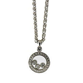 Chopard Happy 18K White Gold with 0.36ctw Diamond Pendant Necklace