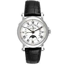 Patek Philippe Perpetual Calendar Retrograde 18k White Gold Mens Watch 5059