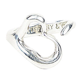 Tiffany & Co. Elsa Peretti Sterling Silver Open Heart Ring Size 5