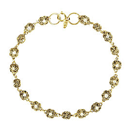 Chanel Gold Tone Hardware with Crystals Rope Ball Station Necklace