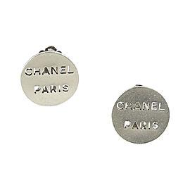 "Chanel Cruise 2000 Silver Tone Hardware ""Chanel Paris"" Earrings"