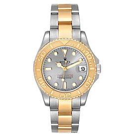 Rolex Yachtmaster 35 Midsize Steel Yellow Gold Slate Dial Watch 68623