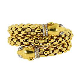 Luis Paus Panther Diamond 18K Yellow Gold Bracelet
