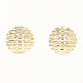 Omega Closures 14K Yellow Gold Earrings