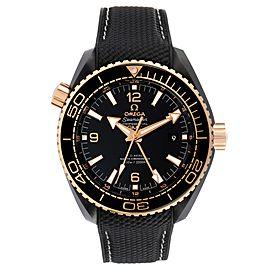 Omega Planet Ocean Deep Black Ceramic GMT Watch 215.63.46.22.01.001
