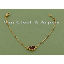 Van Cleef & Arpels 18K Rose Gold Carnelian Bracelet