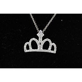 Roberto Coin 372451002528-E 18K White Gold Diamond Pendant