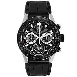 Tag Heuer Carrera Tourbillon Chronograph Titanium Mens Watch CAR5A8Y
