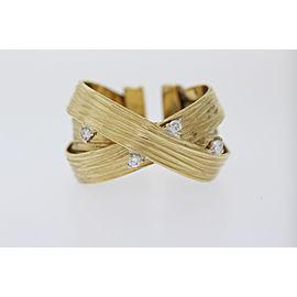Roberto Coin 18K Yellow Gold Diamond Ring Size 6