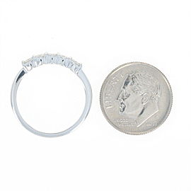 Van Cleef & Arpels Platinum Diamond Ring Size 6.25