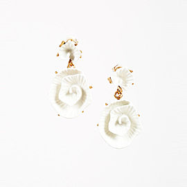Oscar De La Renta Flower Earrings