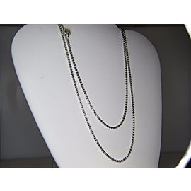 David Yurman Sterling Silver and 14K Yellow Gold Box Chain Necklace