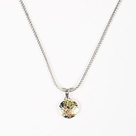 John Hardy Sterling Silver & 18K Yellow Gold Disc Pendant Necklace