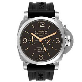 Panerai Luminor 1950 8 Days GMT 24H Titanium Watch PAM00656