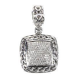 John Hardy Sterling Silver & Pave Diamond Pendant
