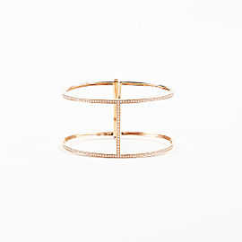 Beth Miller 14K Rose Gold with Diamond H Bangle