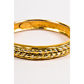 Chanel Gold Tone Braid Bangle Bracelet