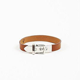 "Hermes ""Java 10"" Palladium Plated Hardware with Leather Bracelet"