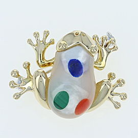 Asch Grossbardt Mother Of Pearl, Lapis, Coral, Lapis Lazuli, Pearl Brooch
