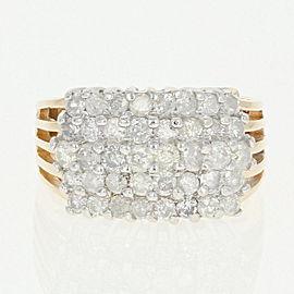 14K Yellow Gold Diamond Ring Size 8.25