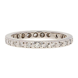 18K White Gold Diamond Wedding Ring Size 7.75
