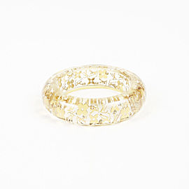 "Louis Vuitton Gold Tone Hardware and Resin ""Wide Inclusion"" Bangle Bracelet"