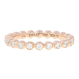 Kwiat 18K Rose Gold Diamond Wedding Ring Size 4.75