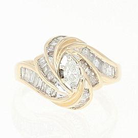 14K Yellow Gold Diamond Ring Size 3.75