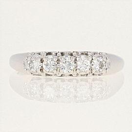14K White Gold Diamond Ring Size 11.25
