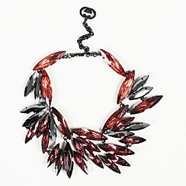 Gucci Gun Tone Hardware with Crystal Beaded Necklace