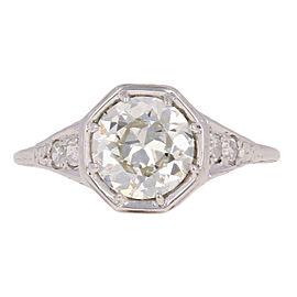 18K White Gold Diamond Engagement Ring Size 4.5