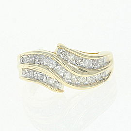 14K Yellow Gold Diamond Ring Size 5.75