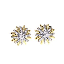 David Yurman 18K Yellow Gold Diamond Earrings