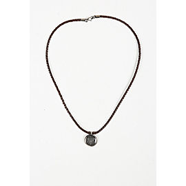 Gucci Leather Cord Sterling Silver Necklace