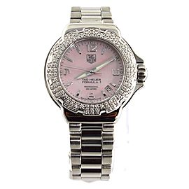 GENUINE TAG HEUER FORMULA 1 PINK WAC1216.BA0852 DIAMOND LADIES SWISS F1 WATCH