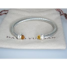 David Yurman Sterling Silver Citrine, Diamond Bracelet