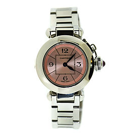 Cartier Pasha Pink Dial Stainless Steel Watch 2973
