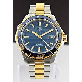 SAVE TAG HEUER AQUARACER WAK2120.BB0835 CHRONOGRAPH BLUE GOLD CERAMIC MENS WATCH