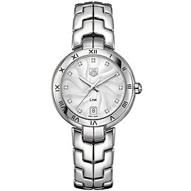 TAG HEUER LADIES LINK WAT1311.BA0956 DIAMOND 34.5MM SILVER WRIST WATCH