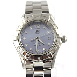 TAG HEUER WAF1419.BA0813 LADIES AQUARACER DIAMOND BLUE PEARL WATCH