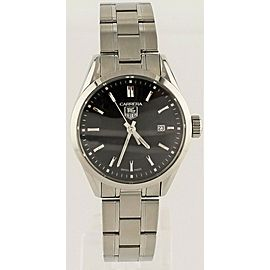 TAG HEUER LADIES CARRERA WV1414.BA0793 SWISS QUARTZ BLACK STEEL WATCH